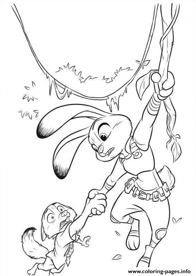 Free Zootopia Coloring Pages to Print   194523
