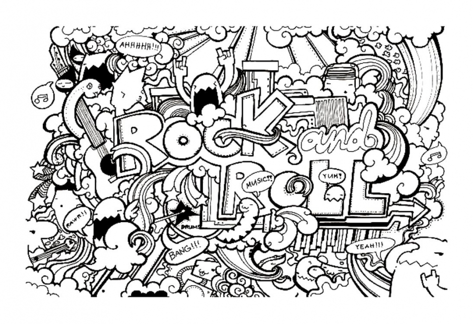 Fun Doodle Art Adult Coloring Pages Printable   54XD2