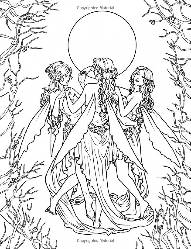 Hard Elf Coloring Pages for Adults   88630