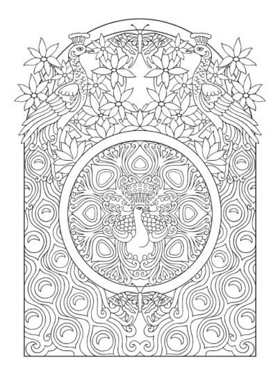 Online Art Deco Patterns Coloring Pages for Adults 654de56