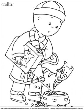 Online Caillou Coloring Pages f8shy