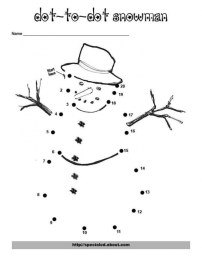Online Christmas Dot to Dot Coloring Pages CJUZH