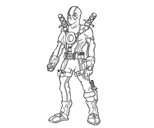 Online Deadpool Coloring Pages 883930