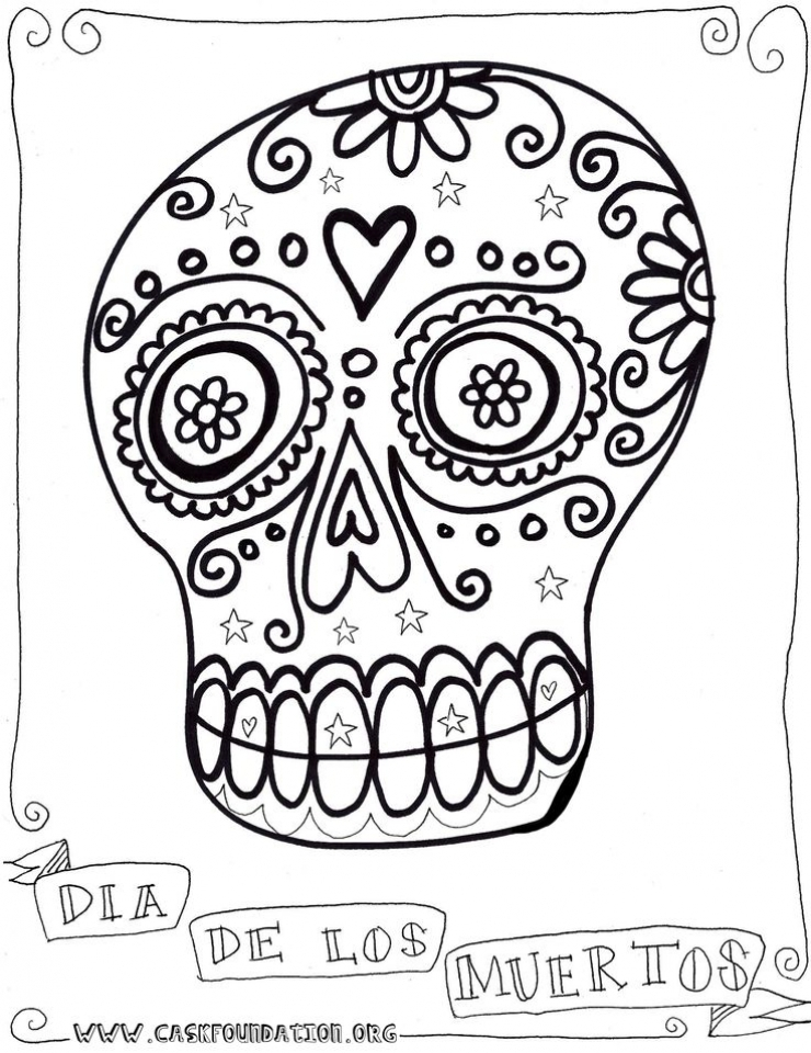 Get This Online Dia De Los Muertos Coloring Pages 6q190