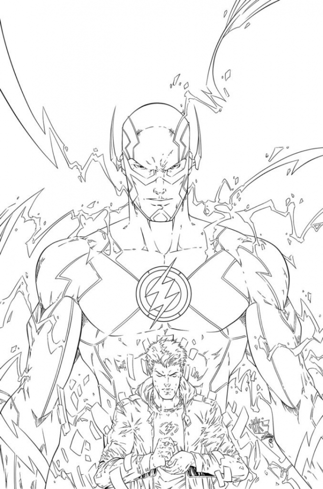 20+ Free Printable The Flash Coloring Pages