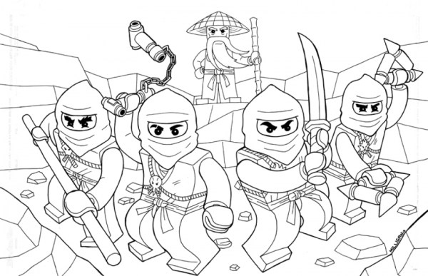 Online Lego Ninjago Coloring Pages 358884