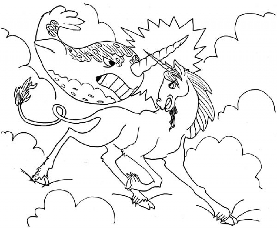 Get This Online Narwhal Coloring Pages 50959