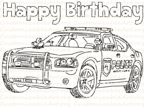 Online Police Car Coloring Pages 50959