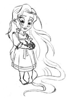 Online Rapunzel Coloring Pages CJUZH