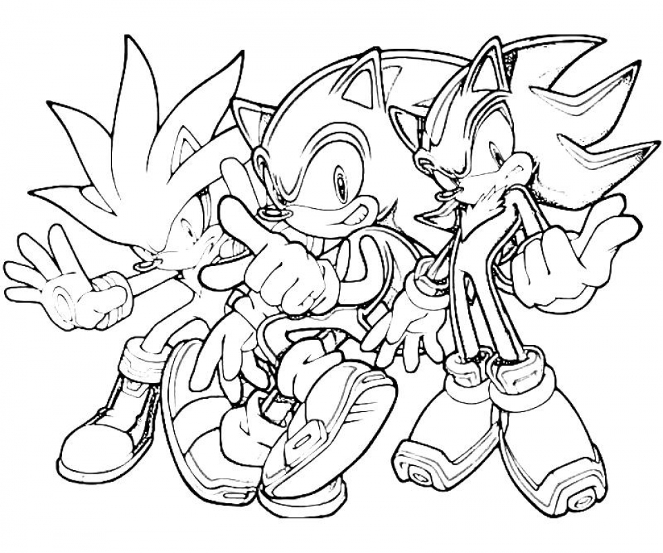 20+ Free Printable Sonic The Hedgehog Coloring Pages - EverFreeColoring.com
