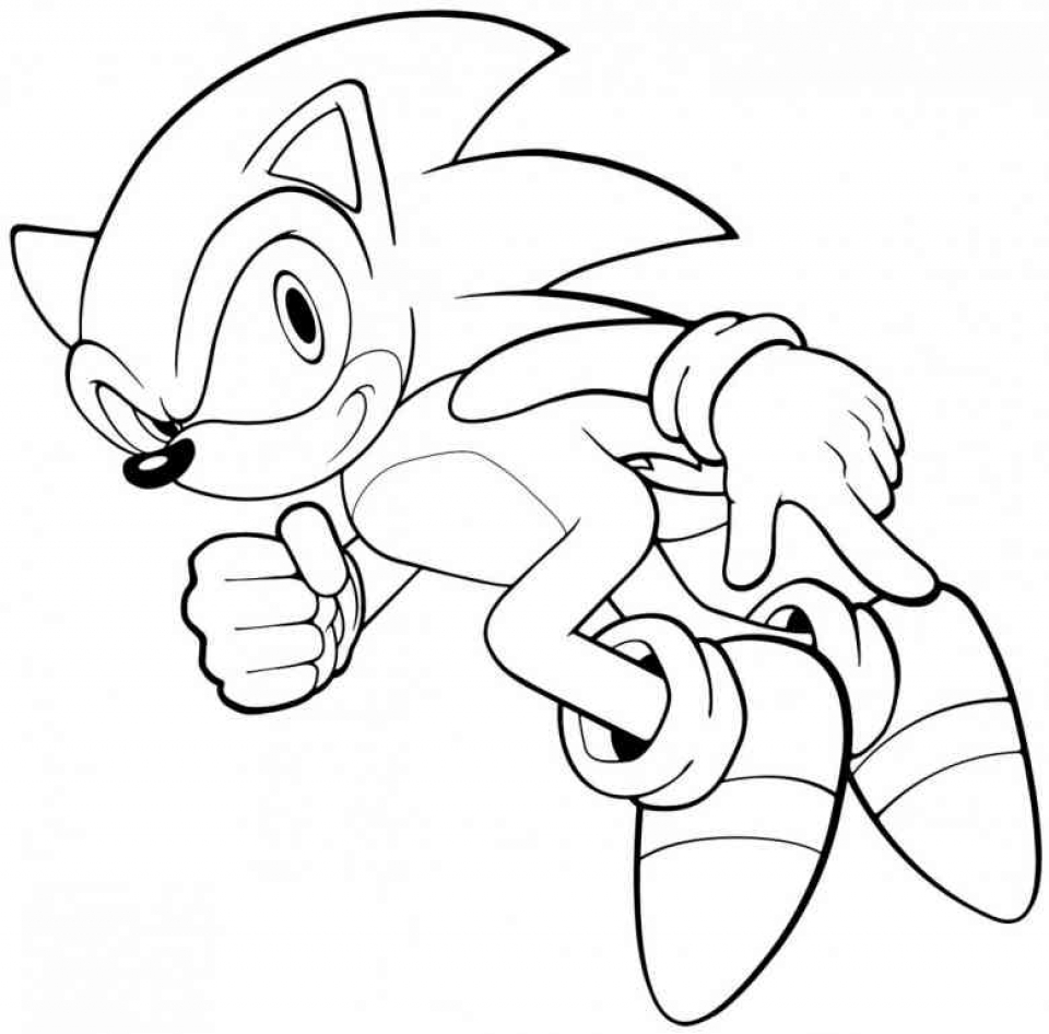 Online Sonic Coloring Pages   569674