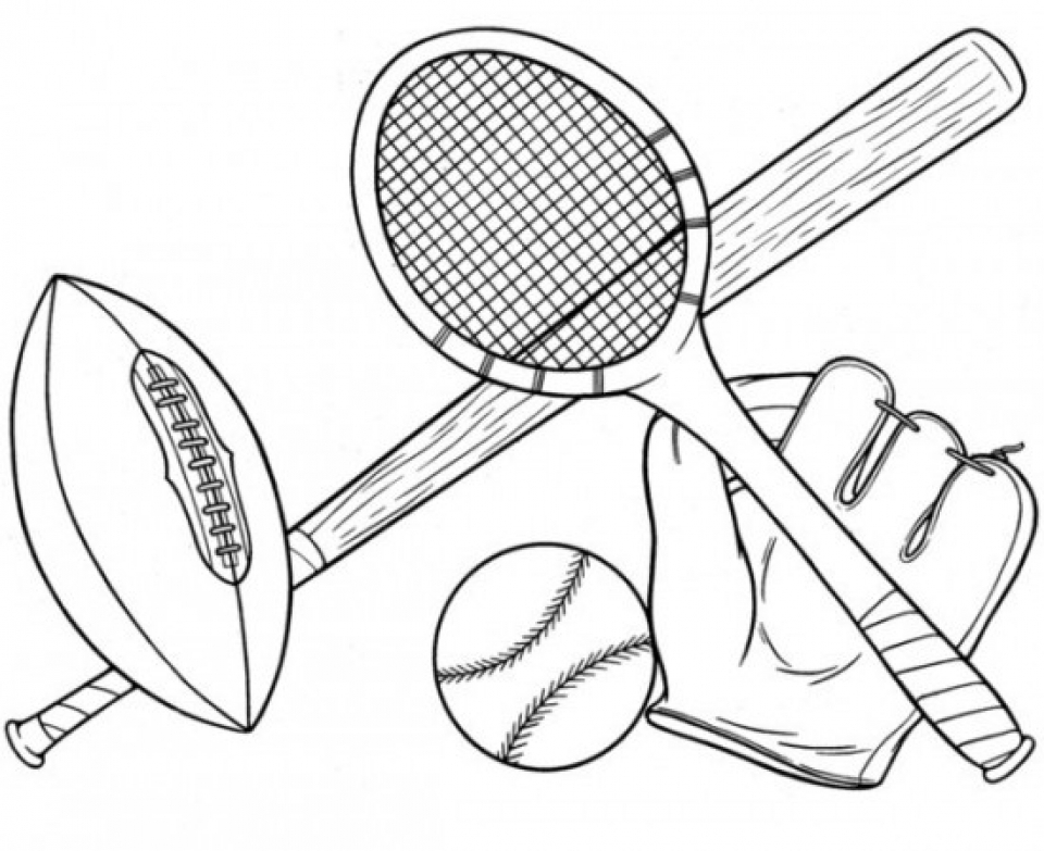 20+ Free Printable Sports Coloring Pages