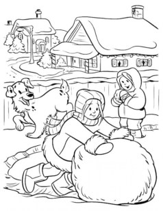 Online Winter Coloring Pages 703918