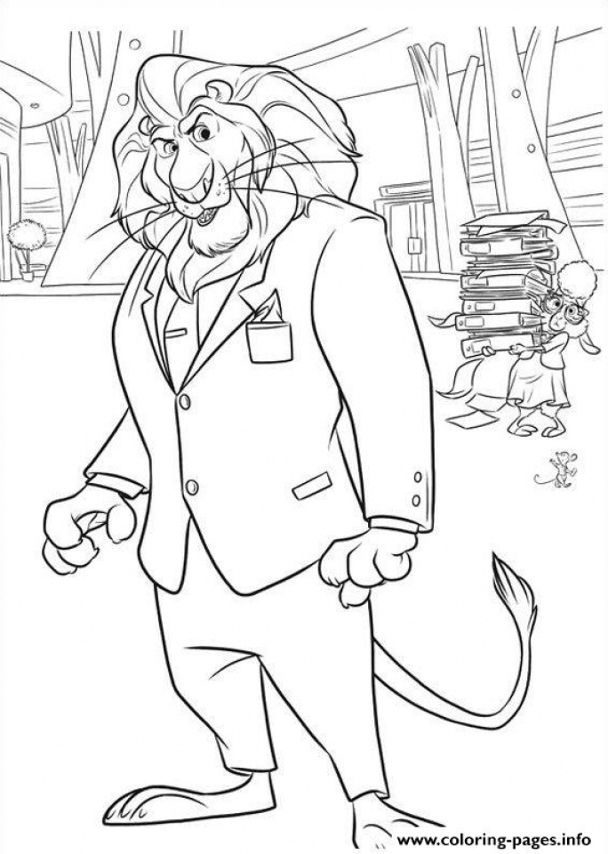 Online Zootopia Coloring Pages   883941
