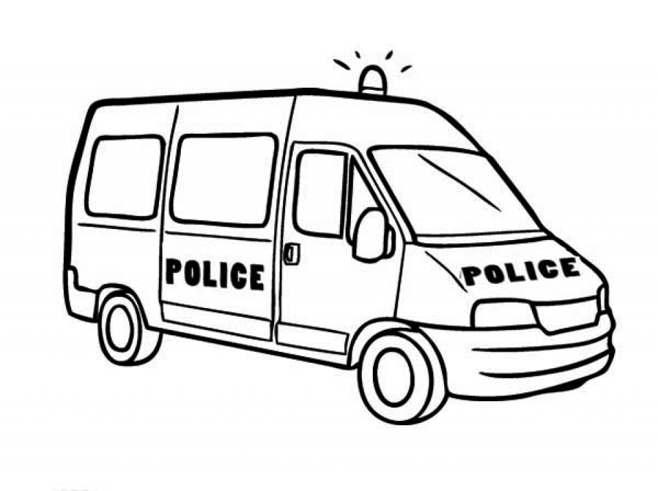 Police Car Coloring Pages Free Printable   68103