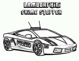 Police Car Coloring Pages Free Printable 80226
