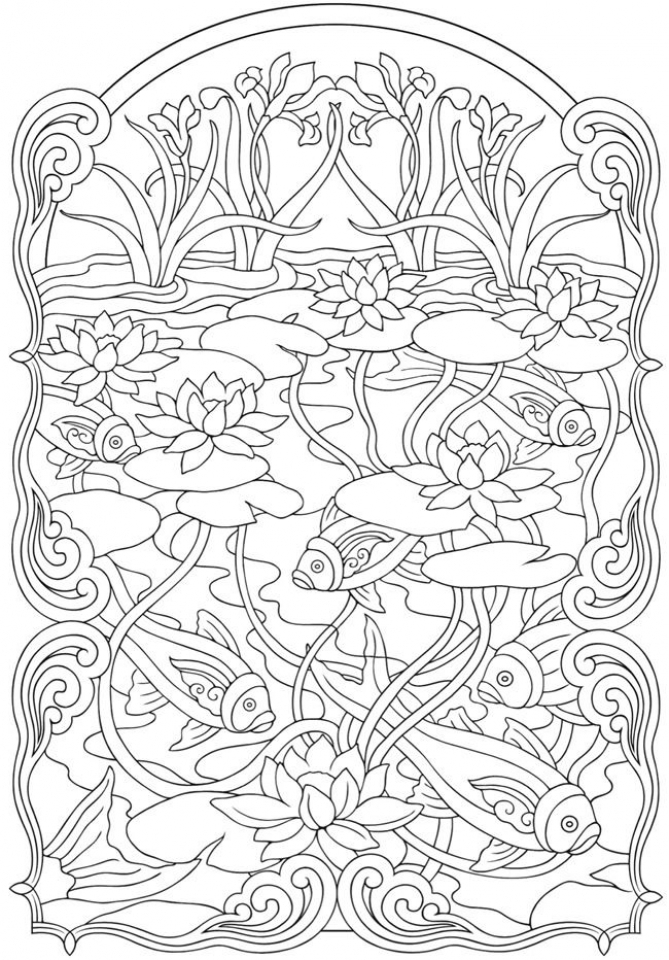 Printable Art Deco Patterns Coloring Pages for Adults   87642