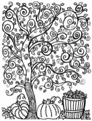 Printable Autumn Coloring Pages for Adults 564xc