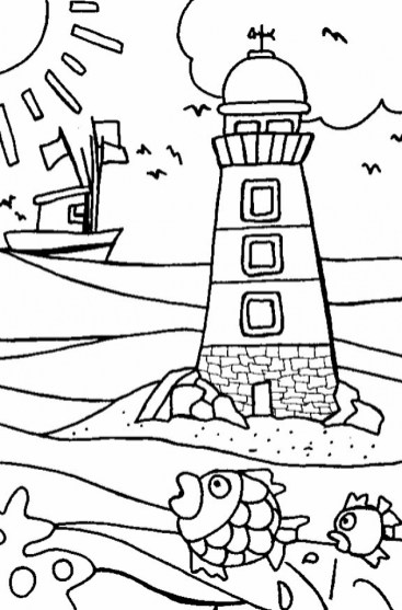 Printable Beach Coloring Pages Y2XRF