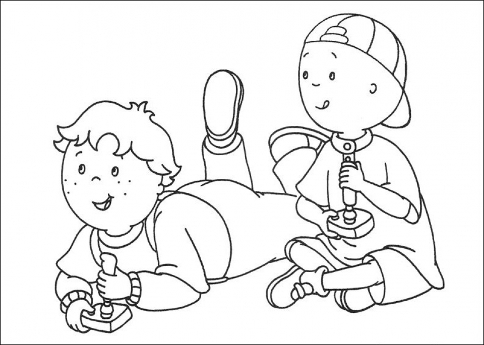 Get This Printable Caillou Coloring Pages dqfk32