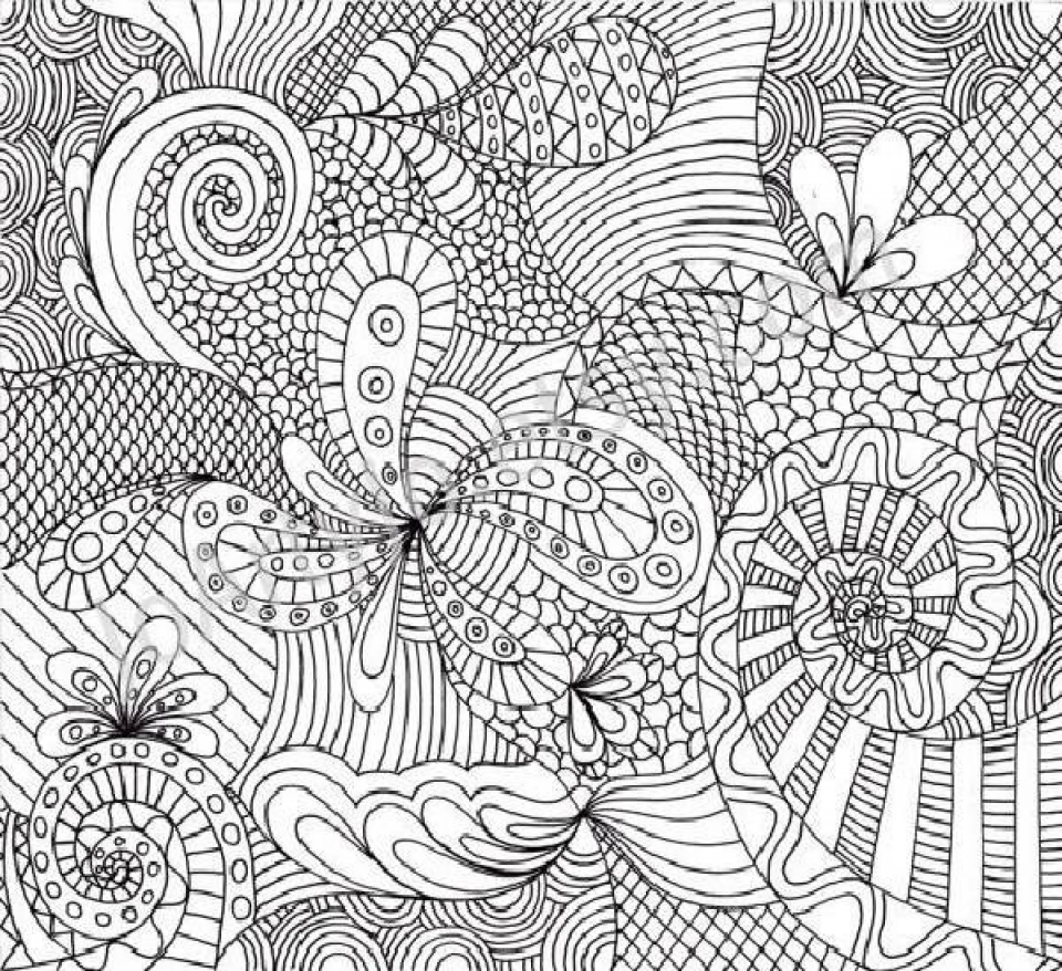 Printable Complex Coloring Pages for Grown Ups Free   c74b6