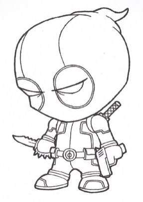 Printable Deadpool Coloring Pages 237386