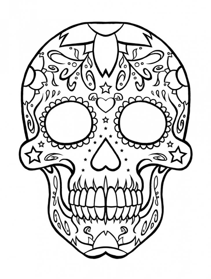Printable Dia De Los Muertos Coloring Pages Online   vu6h15