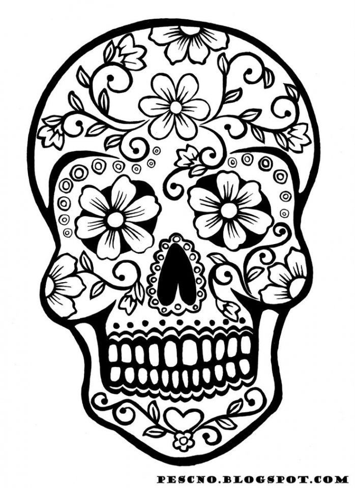 Printable Dia De Los Muertos Coloring Pages   p79hb