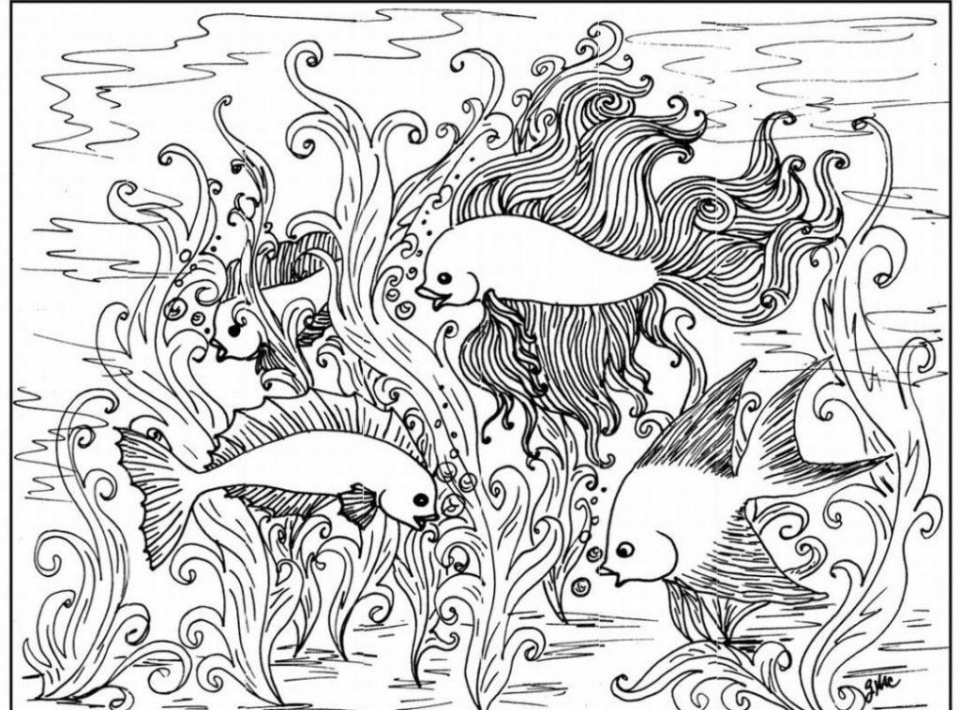 Printable Difficult Animals Coloring Pages for Adults   653KL