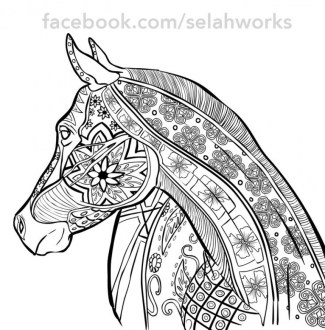 Printable Difficult Animals Coloring Pages for Adults 68V99
