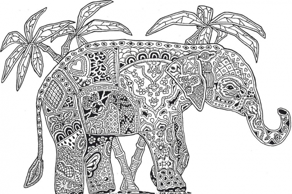 Printable Difficult Animals Coloring Pages for Adults   GTP84