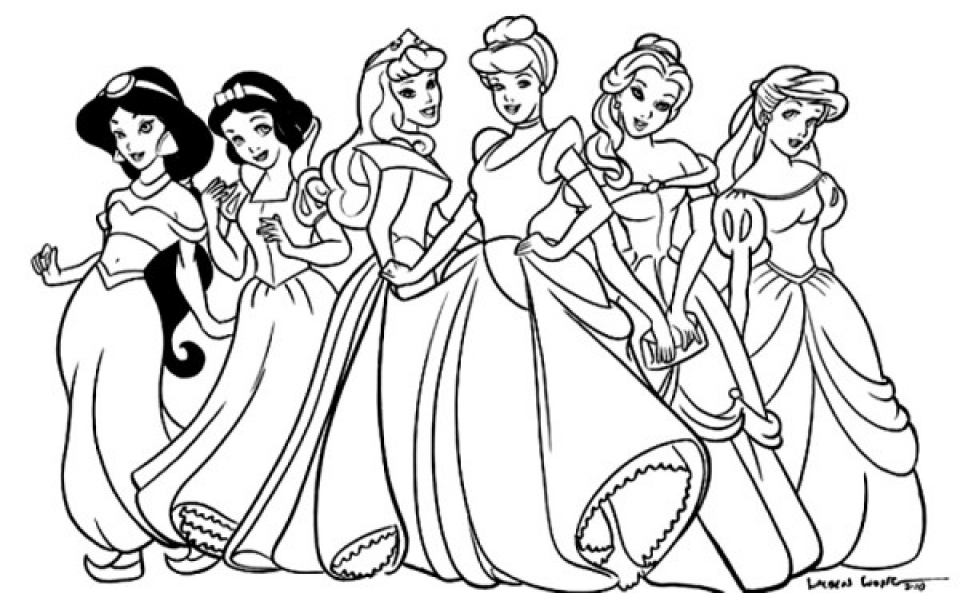20+ Free Printable Disney Princesses Coloring Pages - EverFreeColoring.com