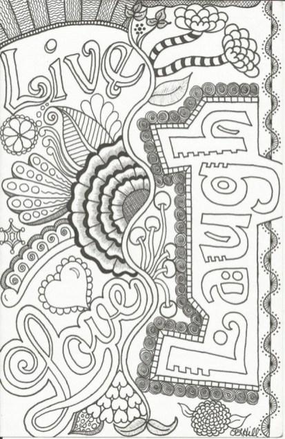 Printable Doodle Art Coloring Pages for Grown Ups 65CL9