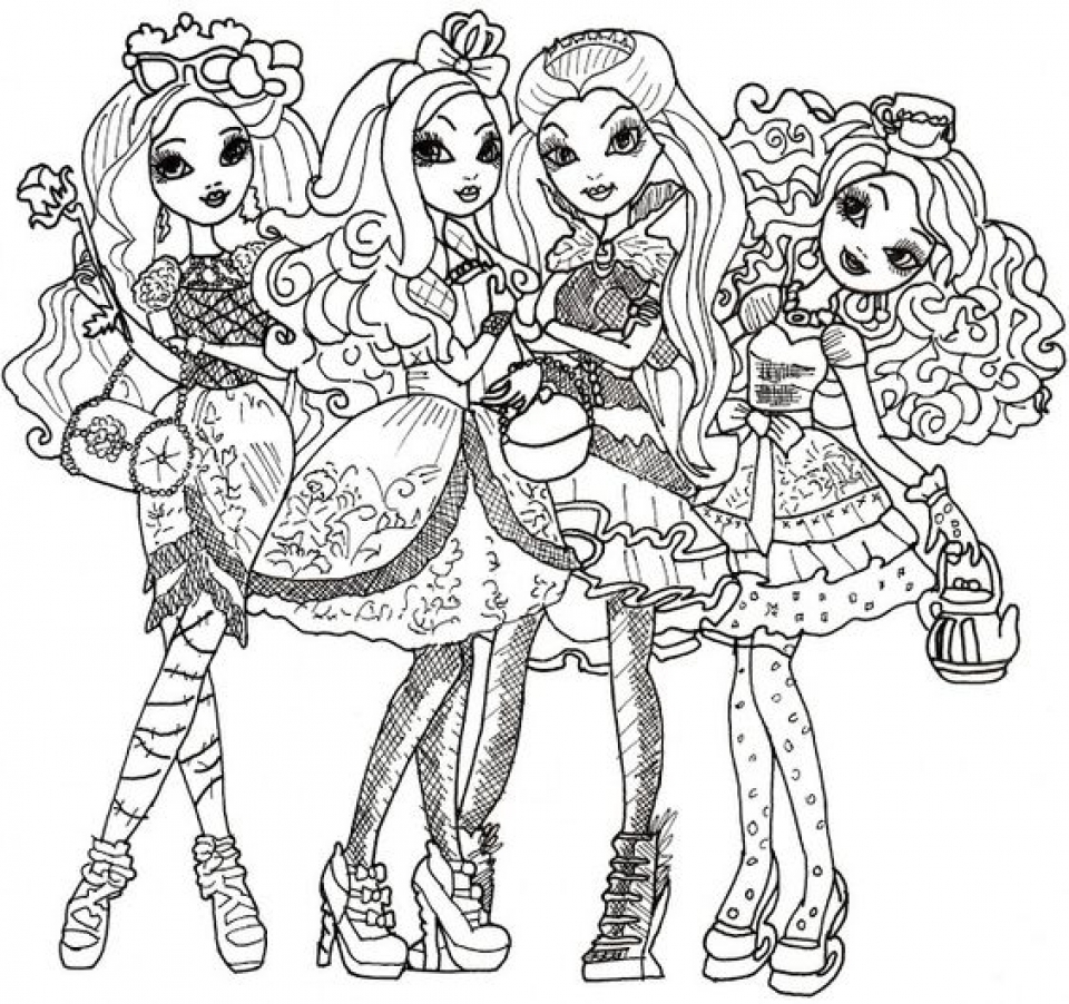 Printable Ever After High Coloring Pages   58425