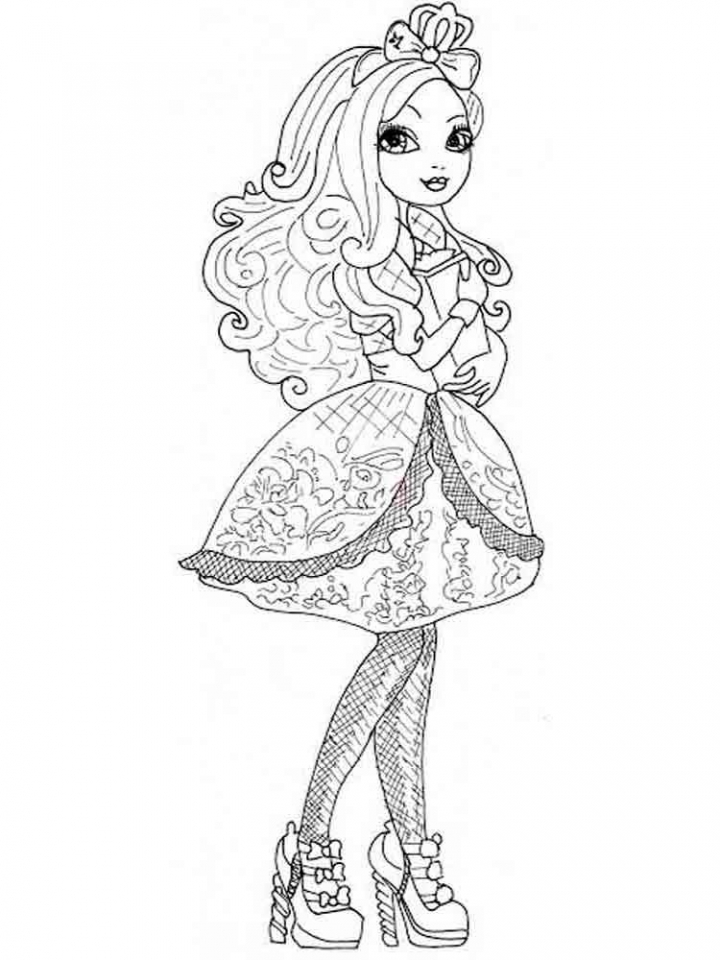 Printable Ever After High Coloring Pages Online   46714