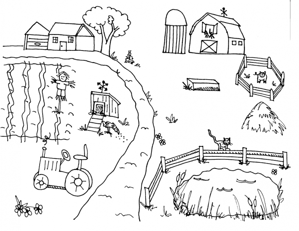 Get This Printable Farm Coloring Pages Online FOH6R