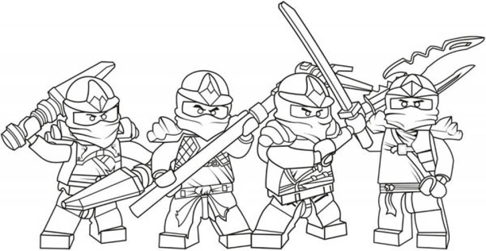 Printable Lego Ninjago Coloring Pages   662633