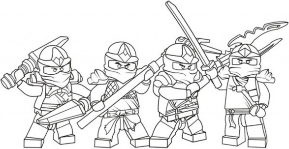 Printable Lego Ninjago Coloring Pages 662633