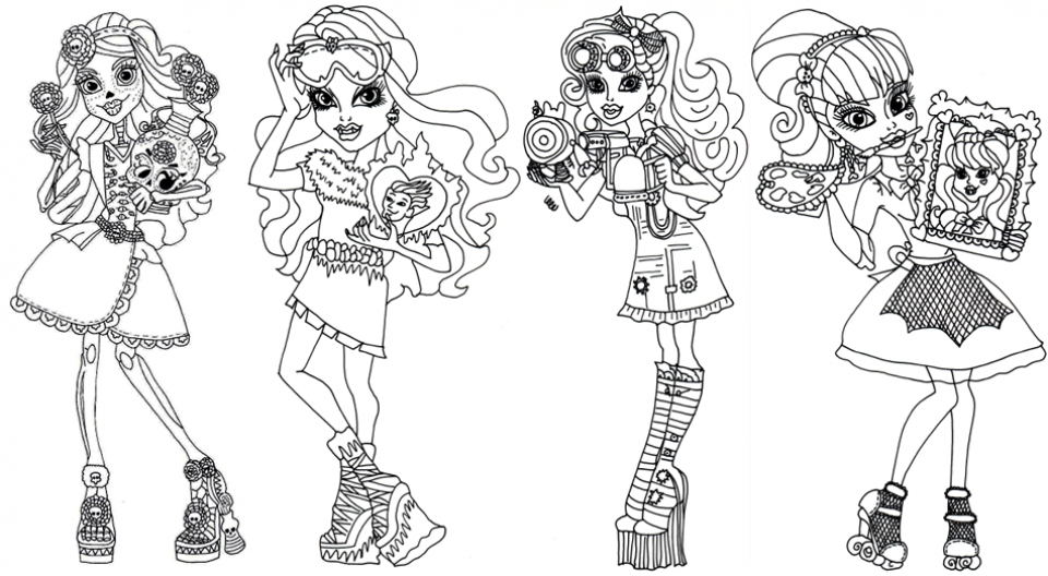 Printable Monster High Coloring Pages   808708
