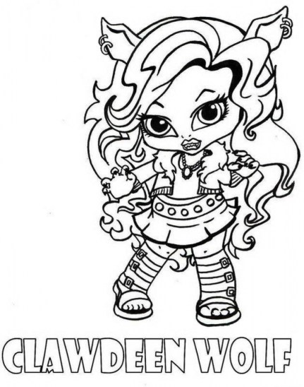 Printable Monster High Coloring Pages Online 735306