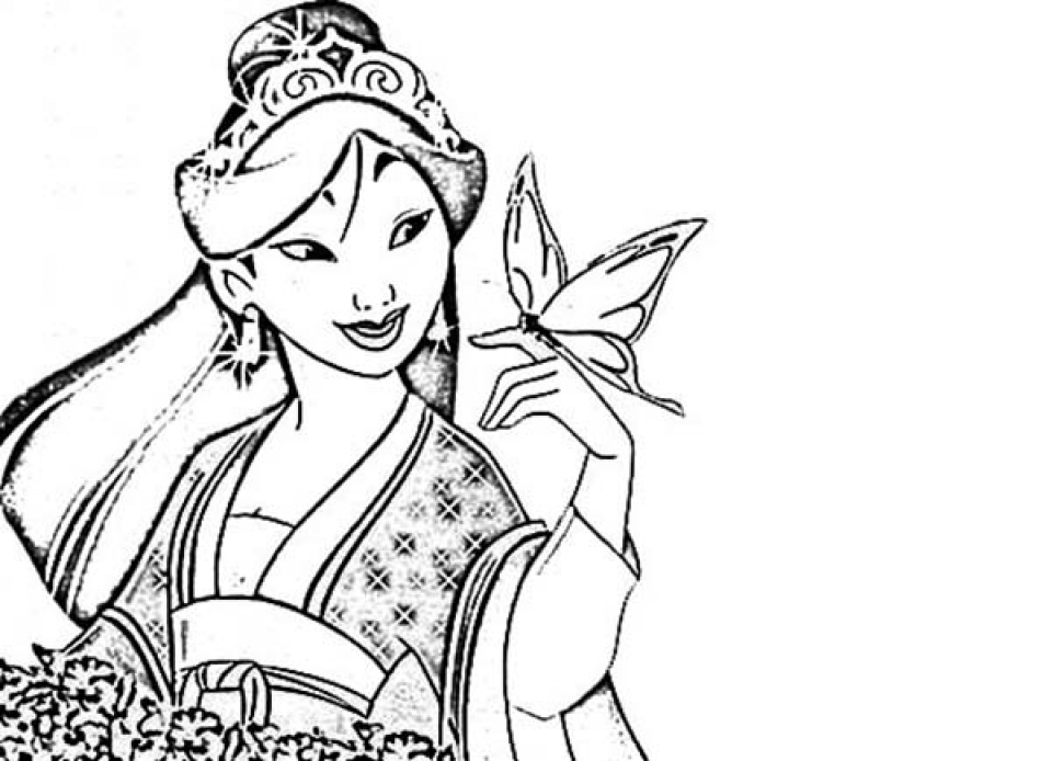 Printable Mulan Coloring Pages   dqfk11