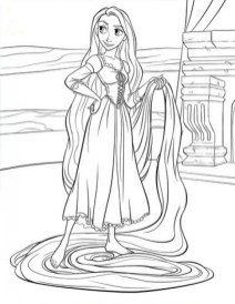 Printable Rapunzel Coloring Pages EK1HU