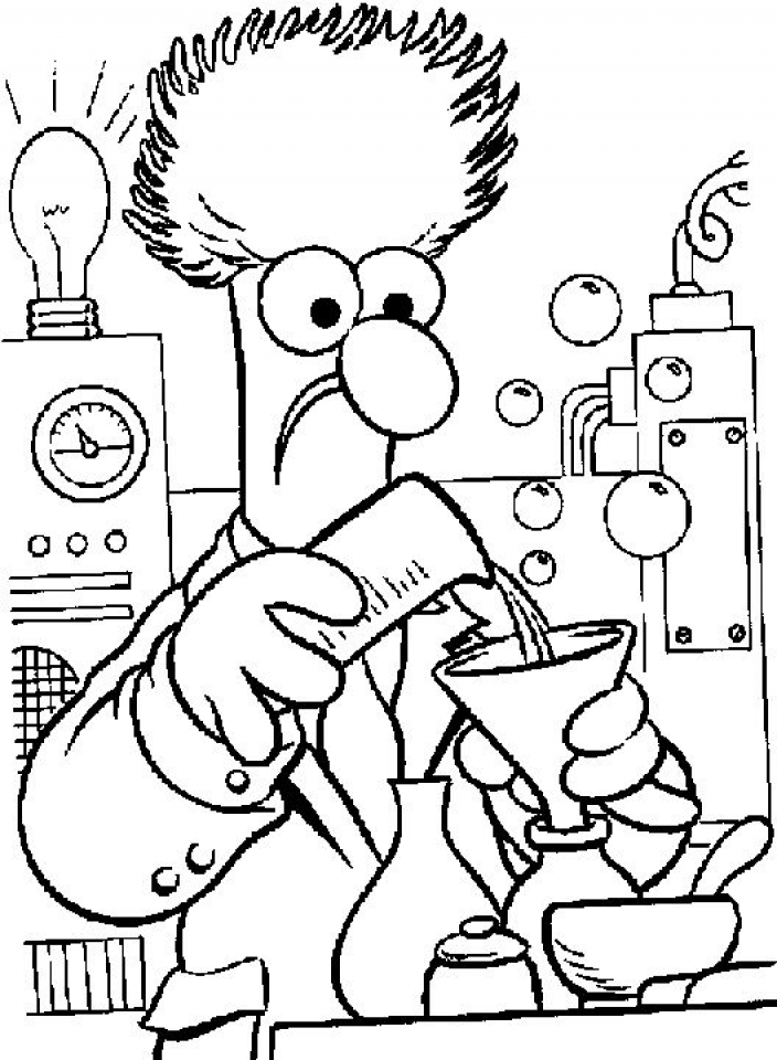 Printable Science Coloring Pages   9wchd