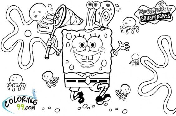 Printable Spongebob Squarepants Coloring Pages Online mnbb15