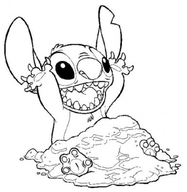Printable Stitch Coloring Pages Online mnbb27