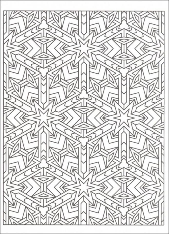 Printable Tessellation Coloring Pages Free   WS51N