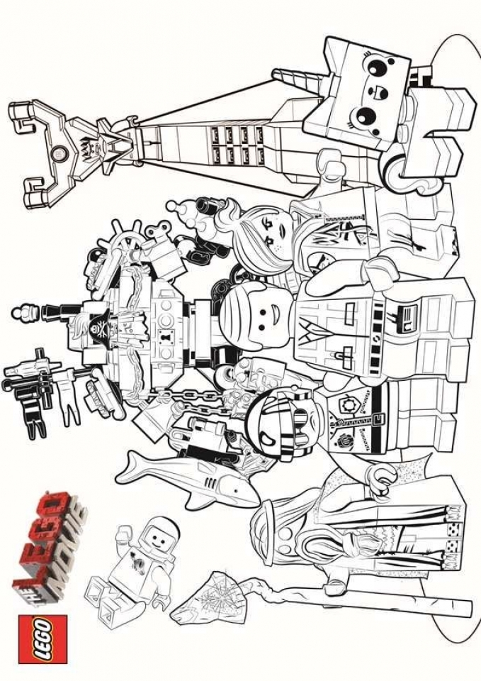 Printable The Lego Movie Coloring Pages   237391