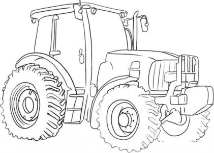 Printable Tractor Coloring Pages Online 17696