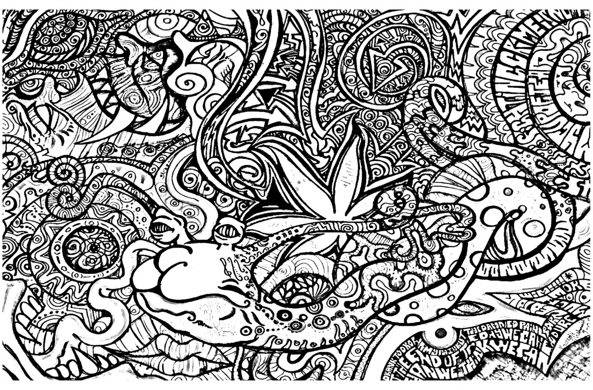 Trippy Coloring Pages