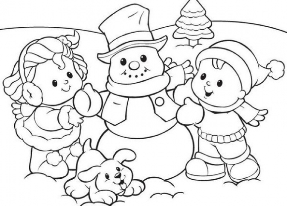 20+ Free Printable Winter Coloring Pages - EverFreeColoring.com